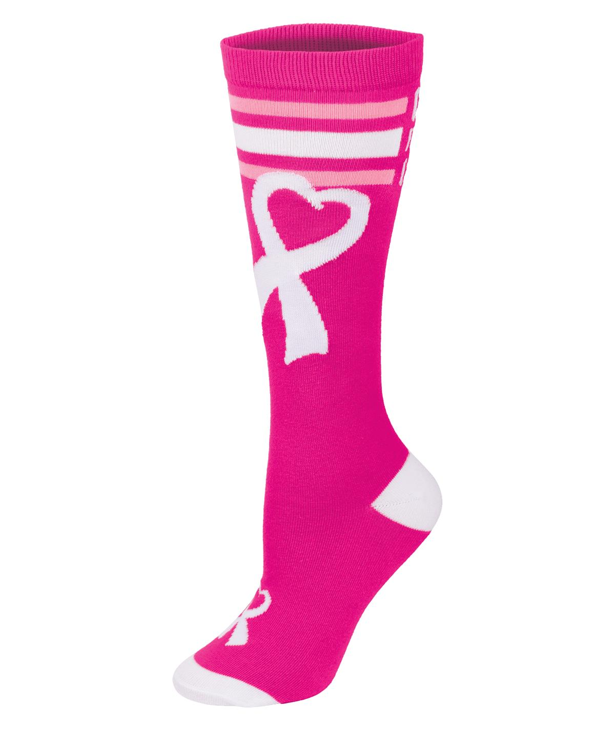 8f372ef74aa96 Chasse Cheer for the Cause Ribbon Knee High Sock