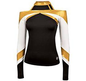 Stretch metallic performance shell top